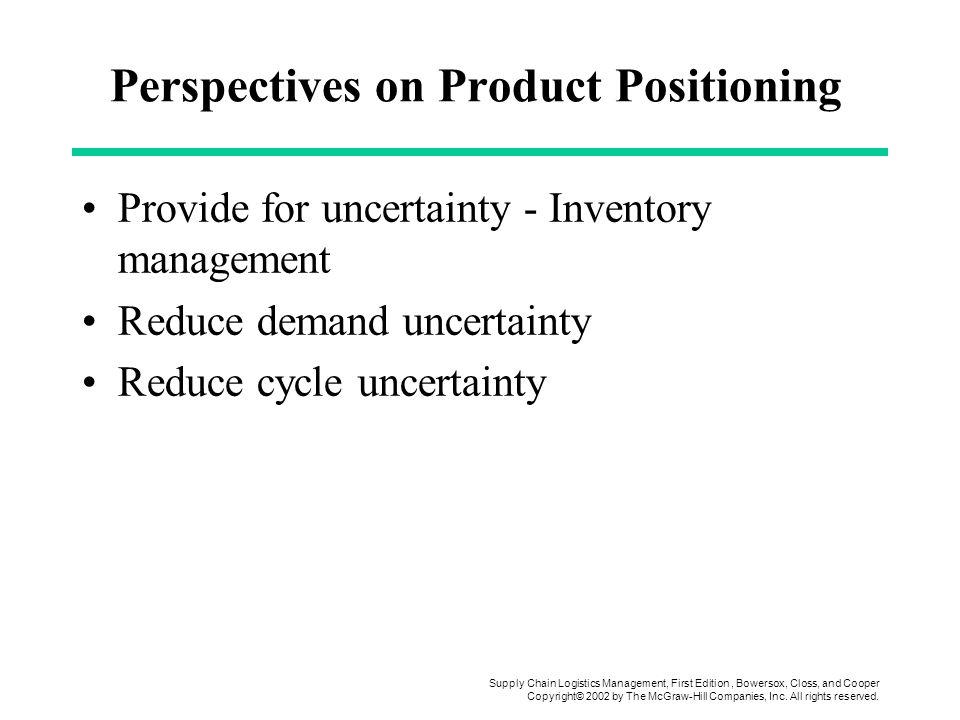 Perspectives on Product Positioning