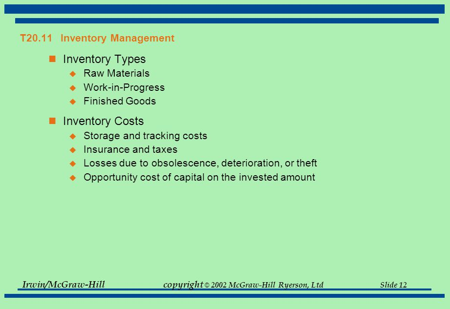 T20.11 Inventory Management