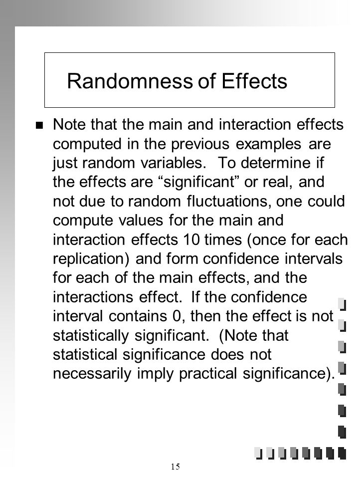 Randomness of Effects