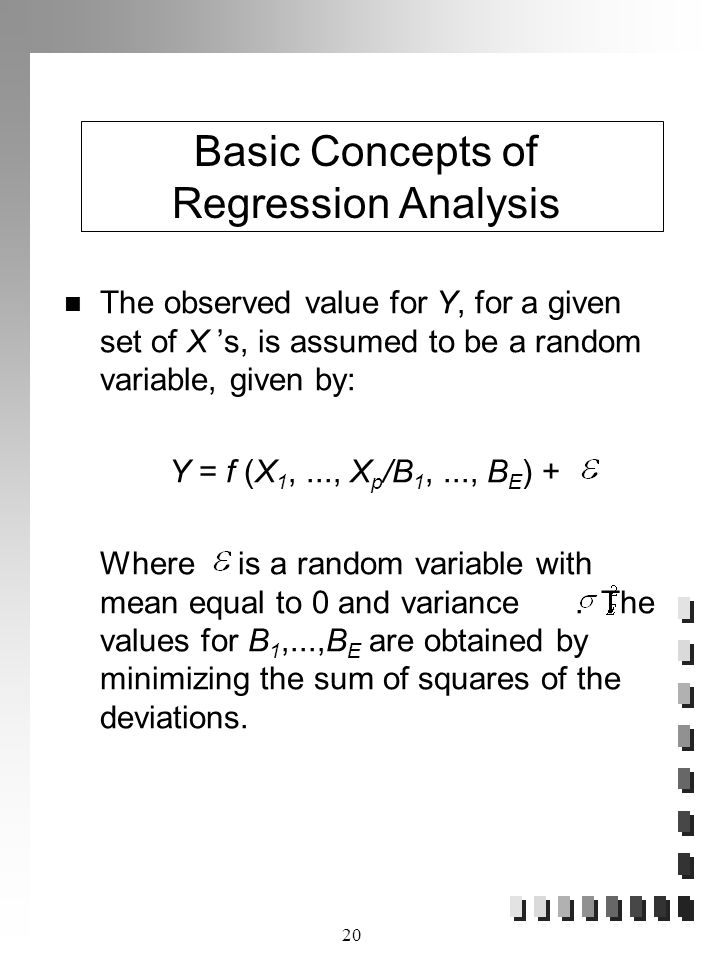 Basic Concepts of Regression Analysis