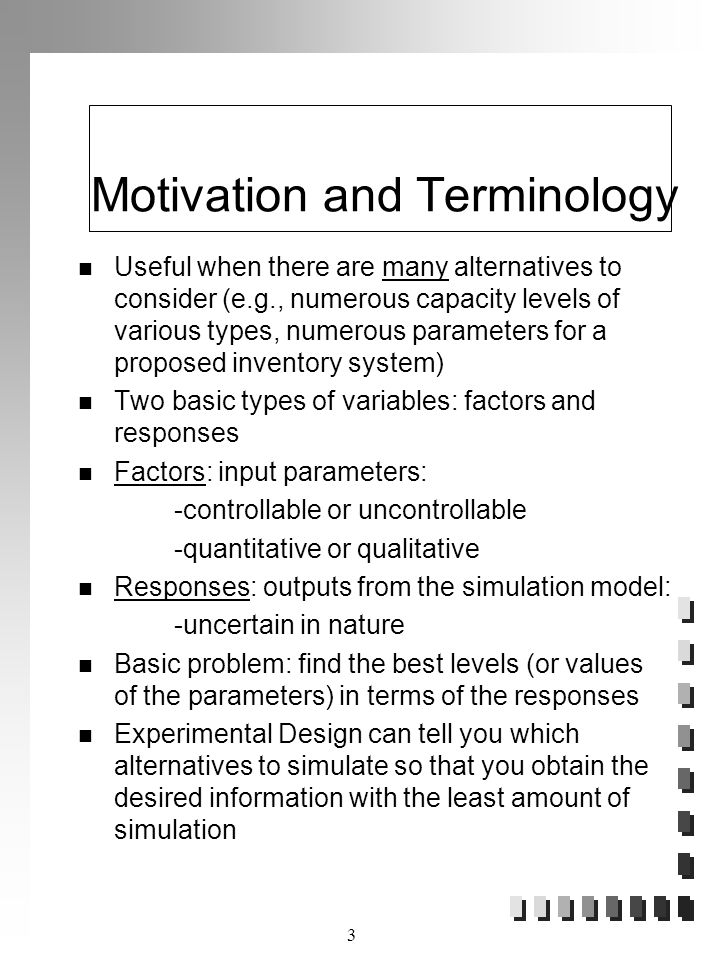 Motivation and Terminology