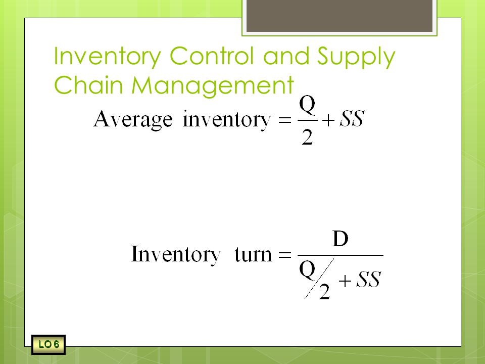 Inventory Control and Supply Chain Management