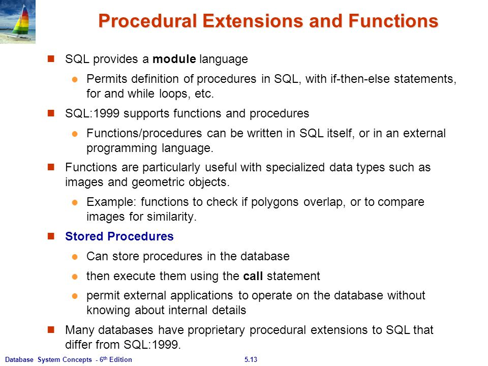 Procedural Extensions and Functions