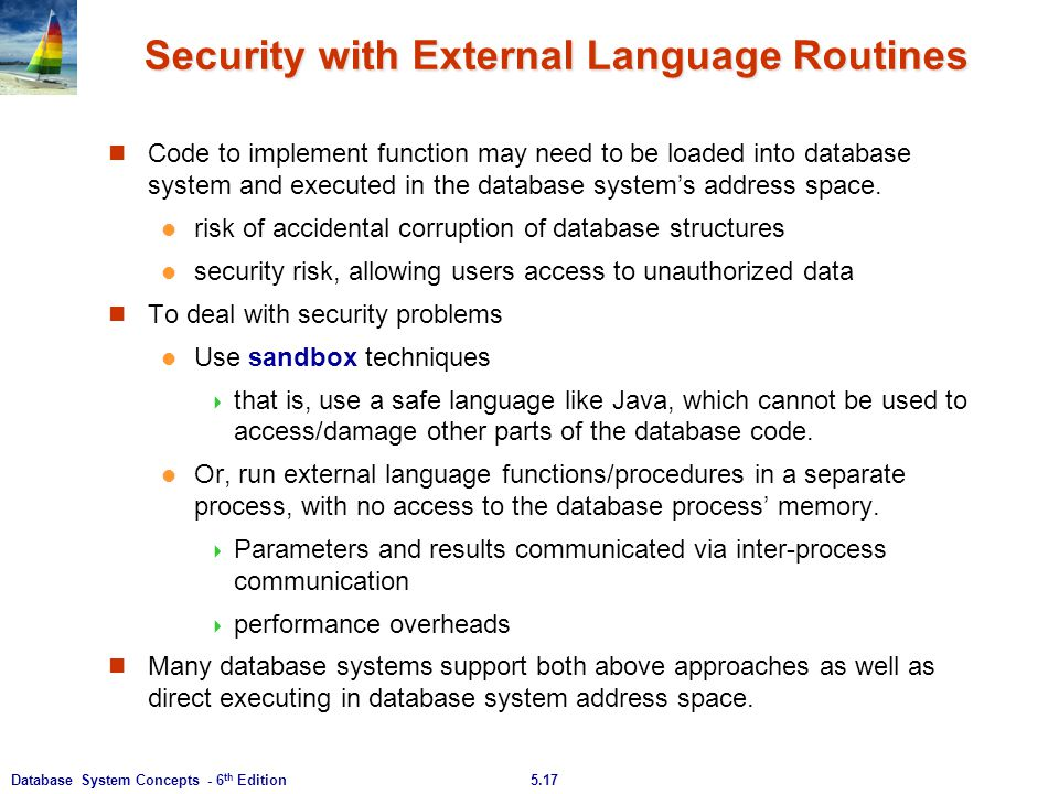 Security with External Language Routines