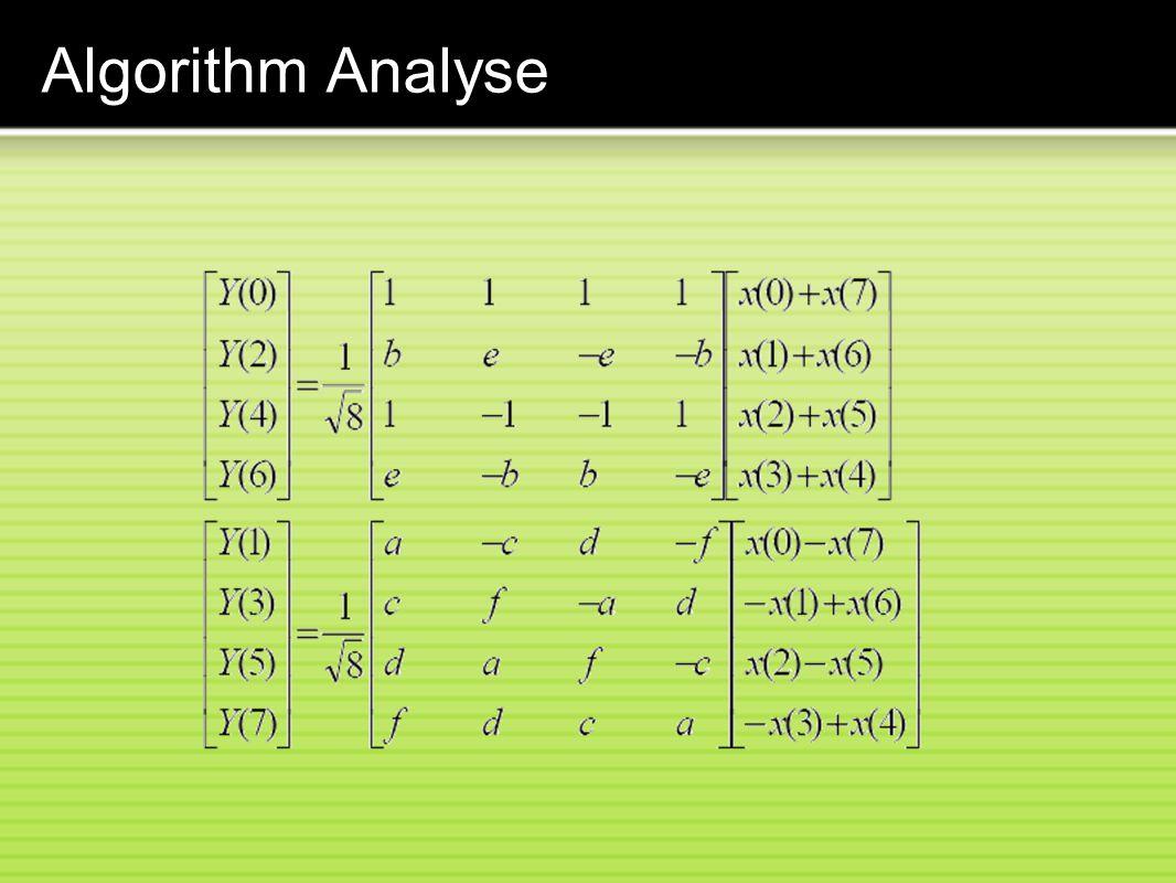 Algorithm Analyse