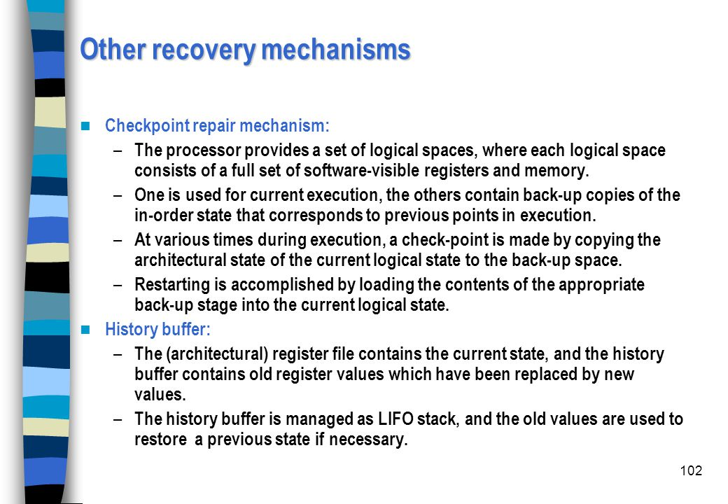 Other recovery mechanisms