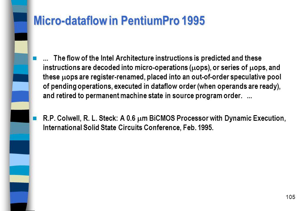 Micro-dataflow in PentiumPro 1995