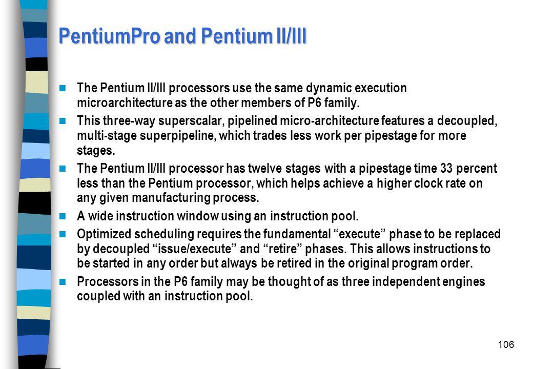 PentiumPro and Pentium II/III