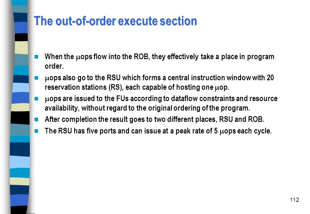 The out-of-order execute section