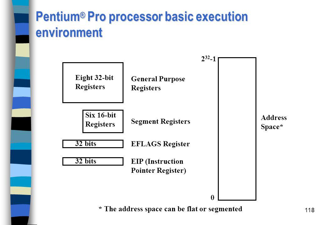 Pentium® Pro processor basic execution environment