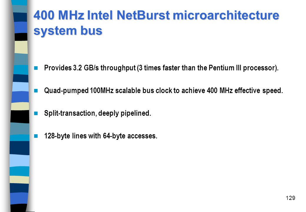 400 MHz Intel NetBurst microarchitecture system bus
