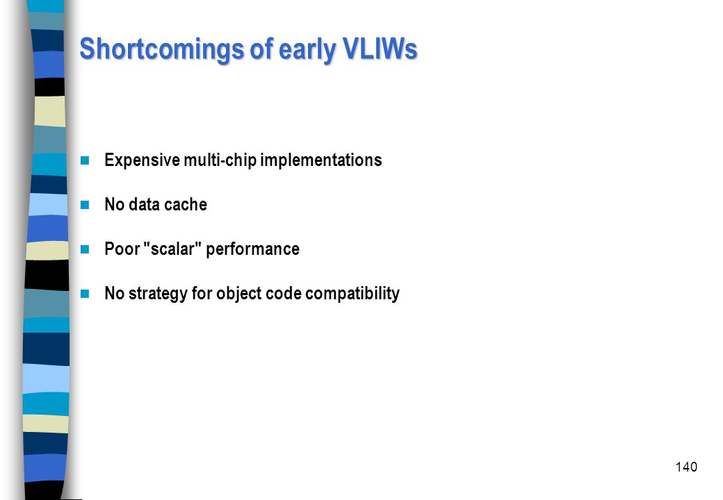Shortcomings of early VLIWs