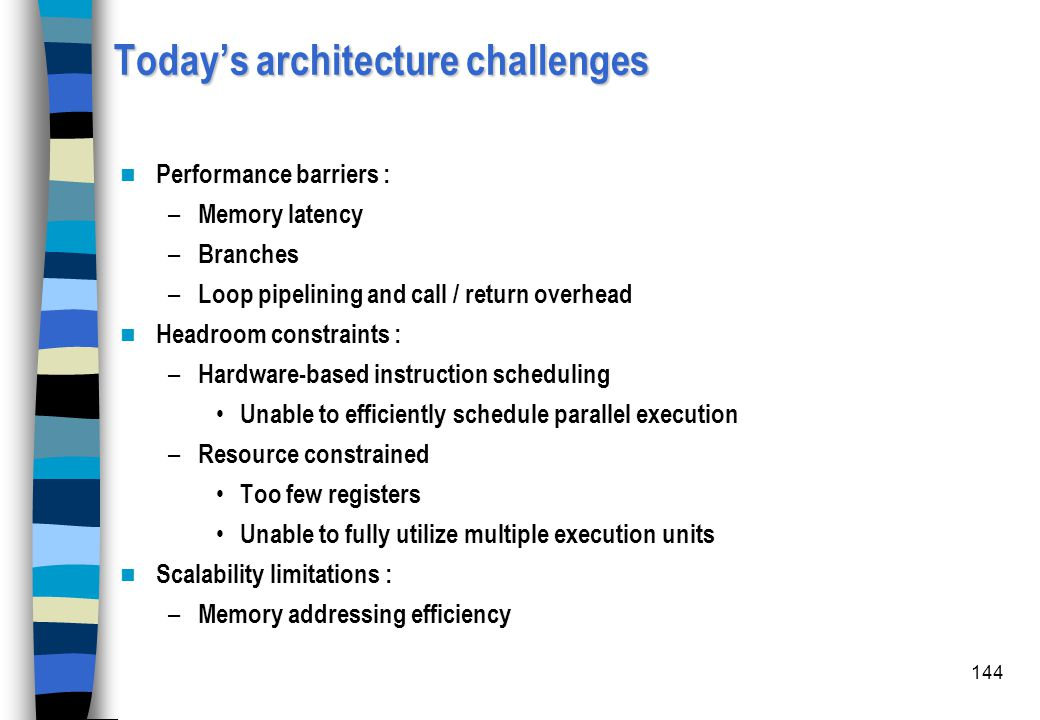 Today's architecture challenges