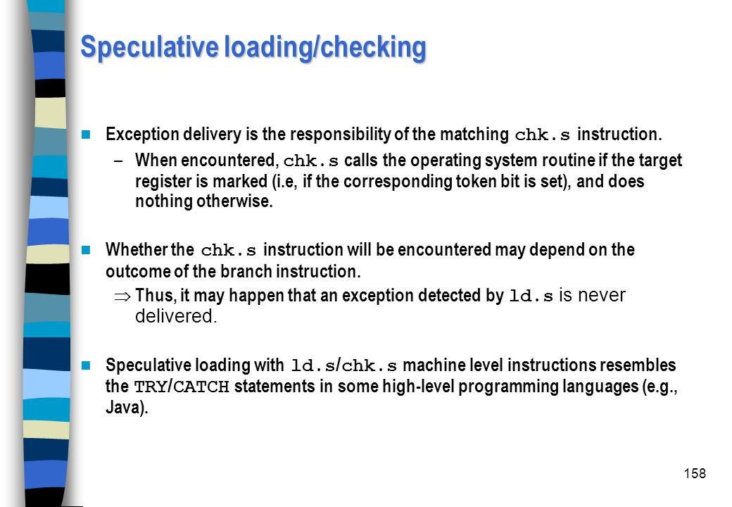 Speculative loading/checking