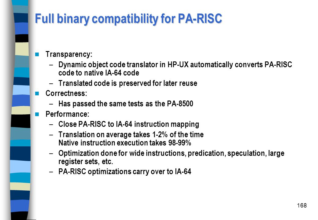 Full binary compatibility for PA-RISC