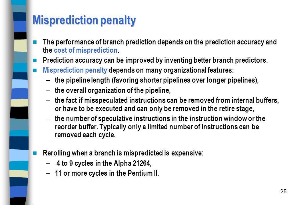 Misprediction penalty