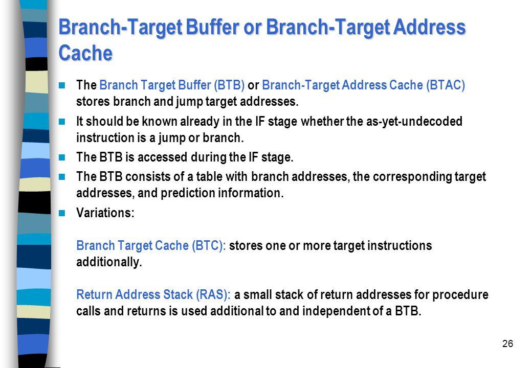 Branch-Target Buffer or Branch-Target Address Cache
