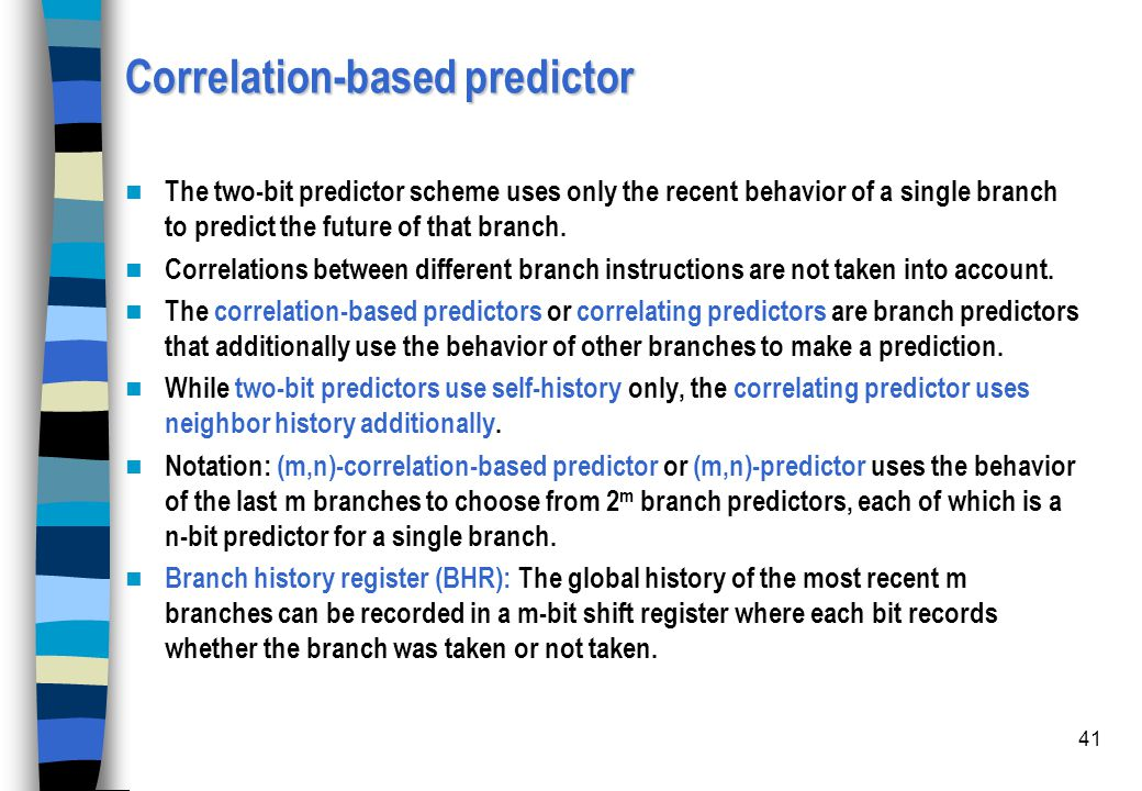 Correlation-based predictor