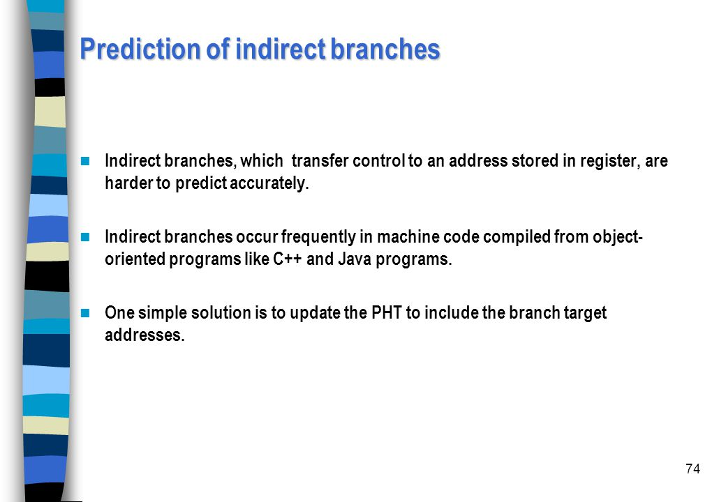 Prediction of indirect branches