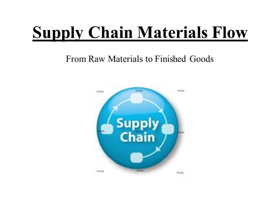 Supply Chain Materials Flow