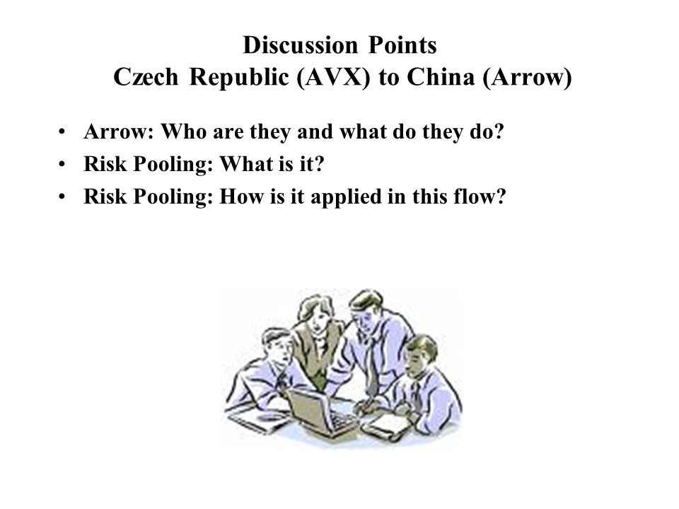 Discussion Points Czech Republic (AVX) to China (Arrow)