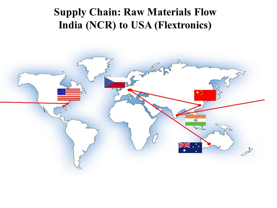 Supply Chain: Raw Materials Flow India (NCR) to USA (Flextronics)
