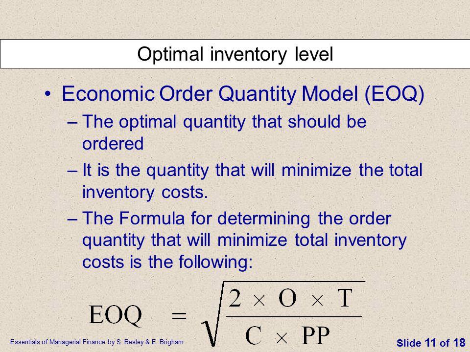 Optimal inventory level