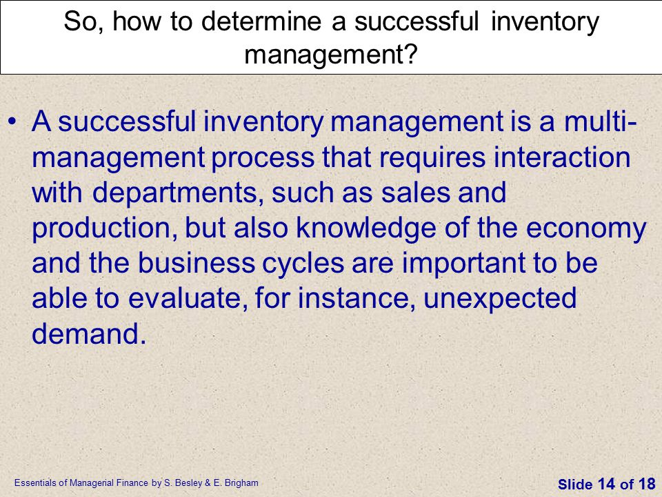 So, how to determine a successful inventory management