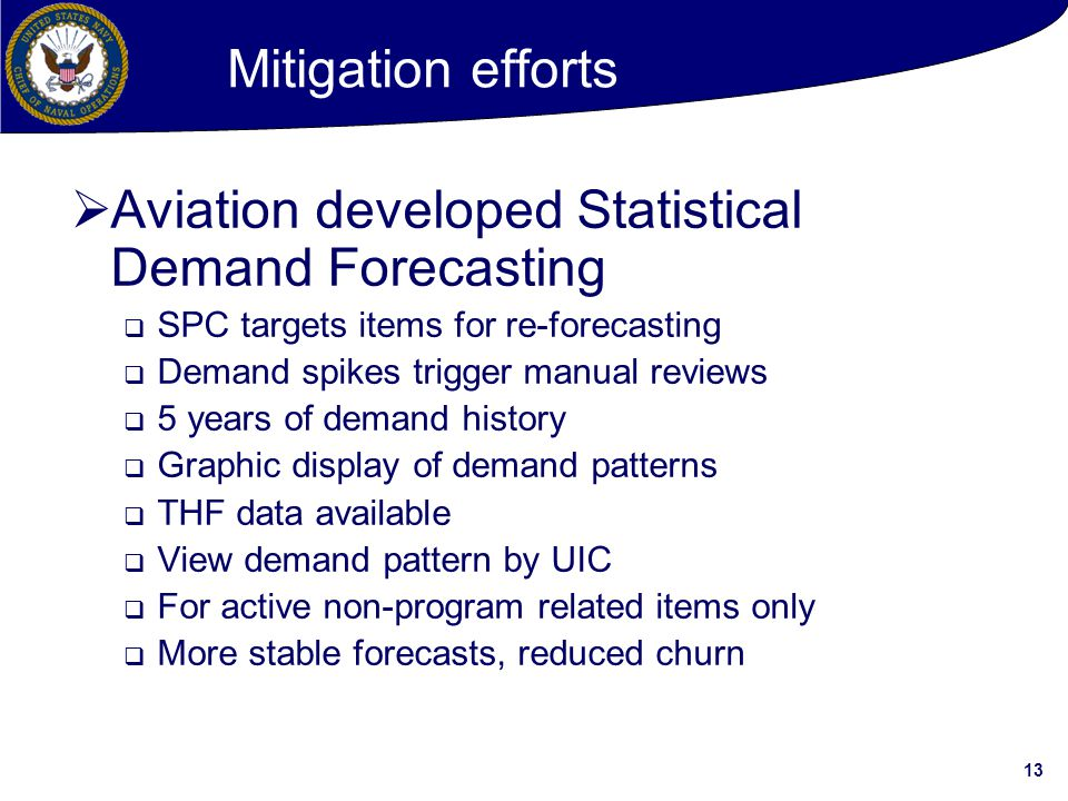 Aviation developed Statistical Demand Forecasting