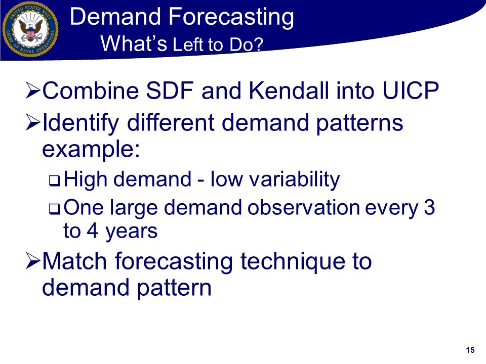 Demand Forecasting What's Left to Do