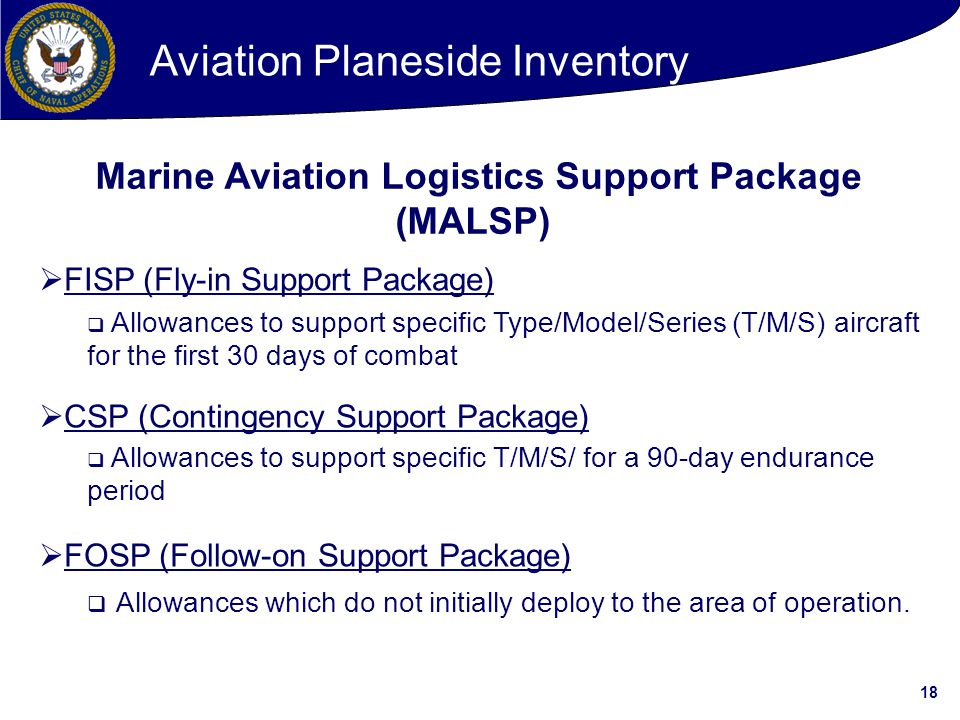 Marine Aviation Logistics Support Package