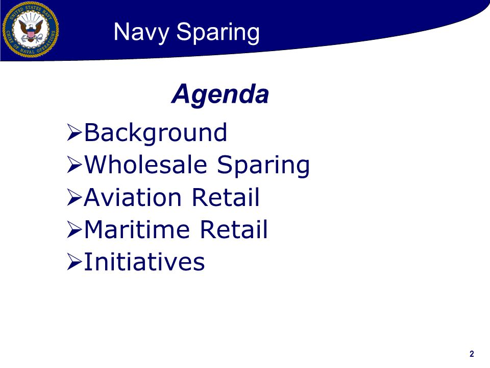 Agenda Navy Sparing Background Wholesale Sparing Aviation Retail