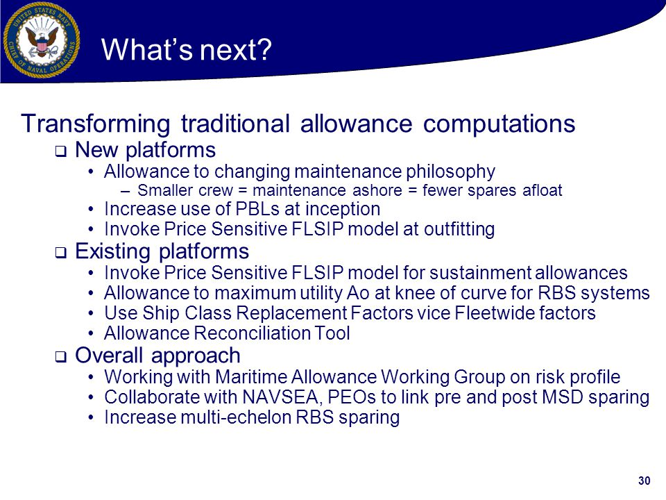 What's next Transforming traditional allowance computations