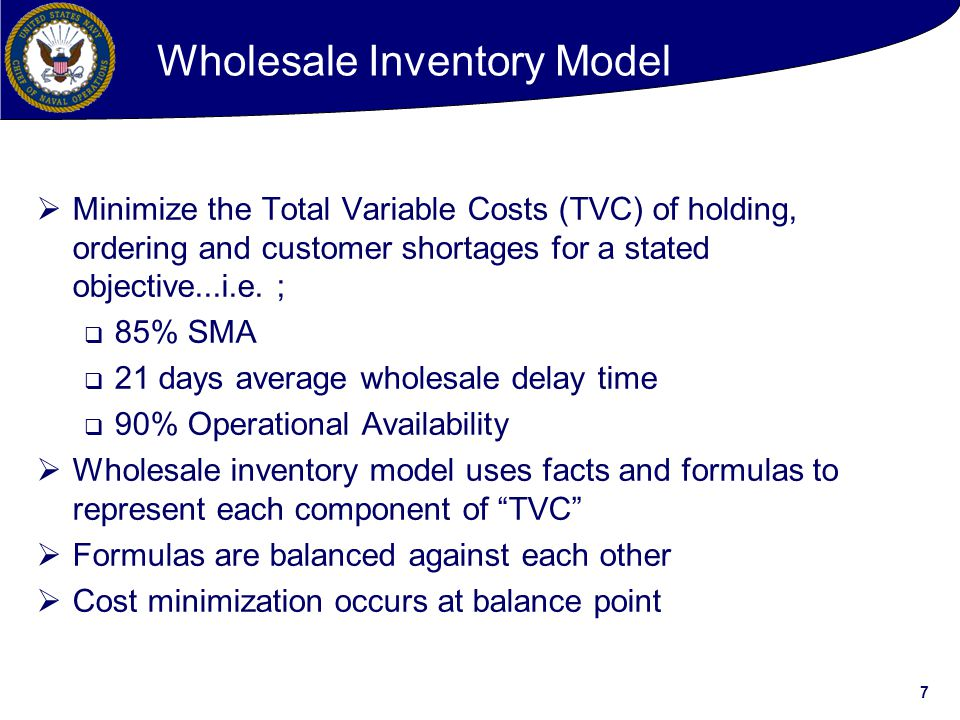 Wholesale Inventory Model