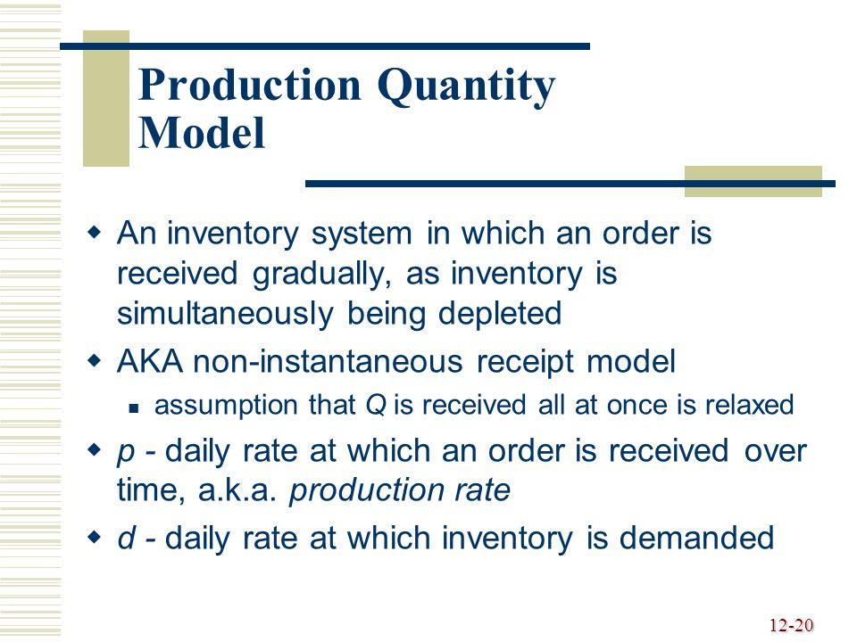 Production Quantity Model