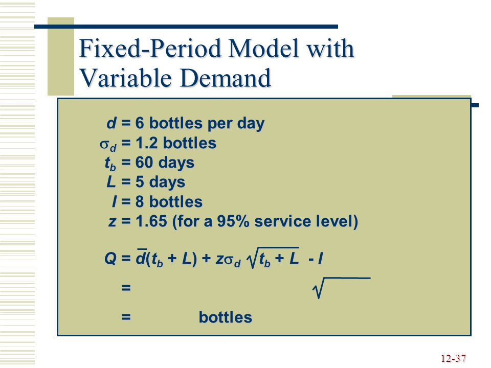 Fixed-Period Model with Variable Demand