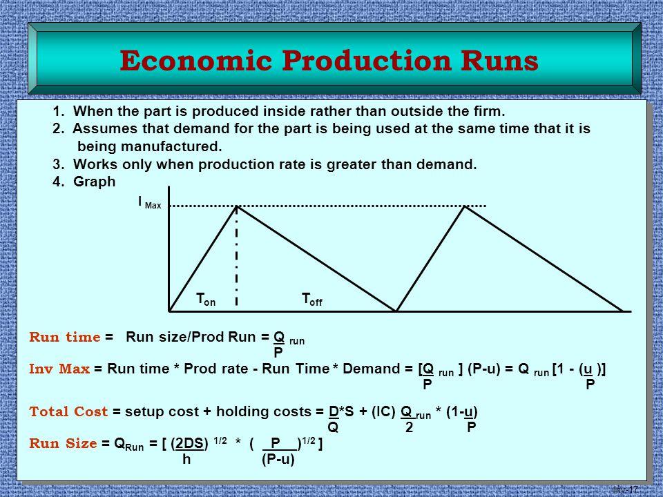 Economic Production Runs
