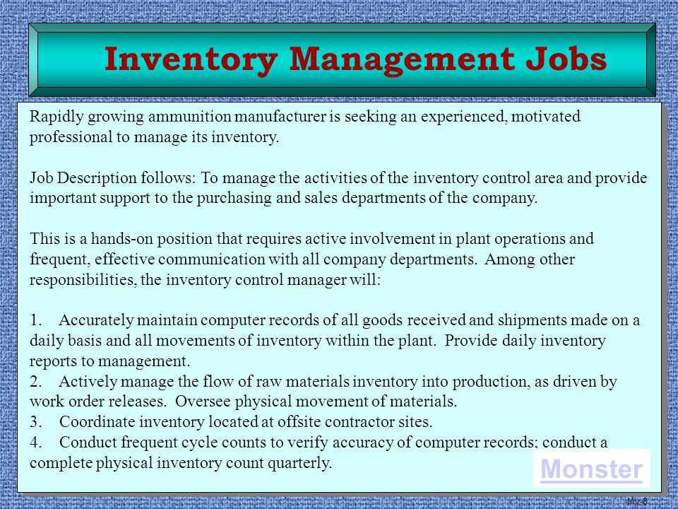 Inventory Management Jobs