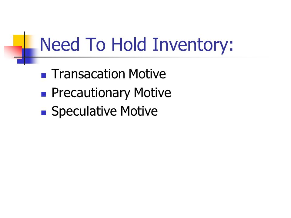 Need To Hold Inventory: