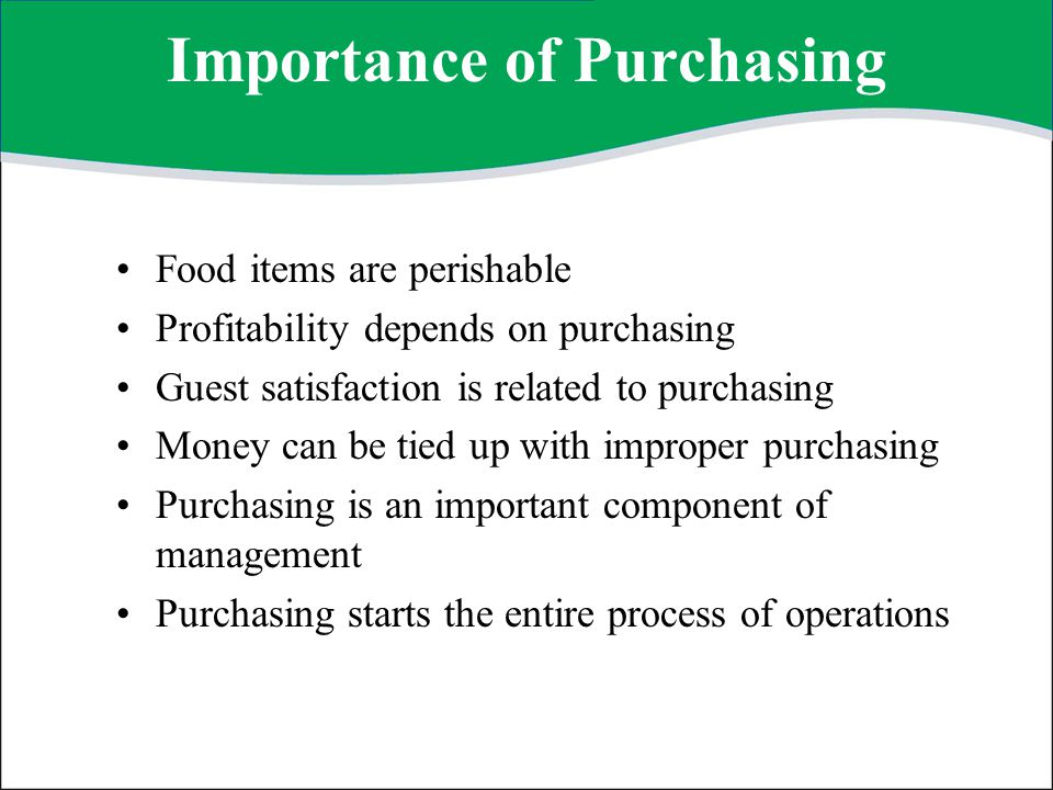 Importance of Purchasing