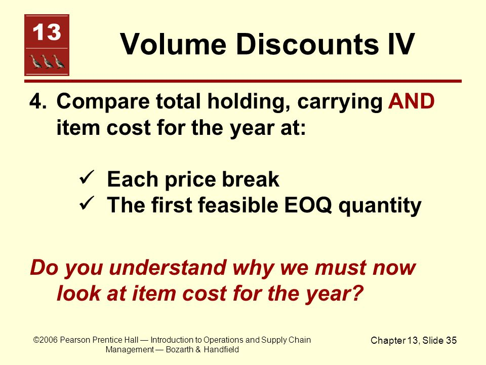 Volume Discounts IV