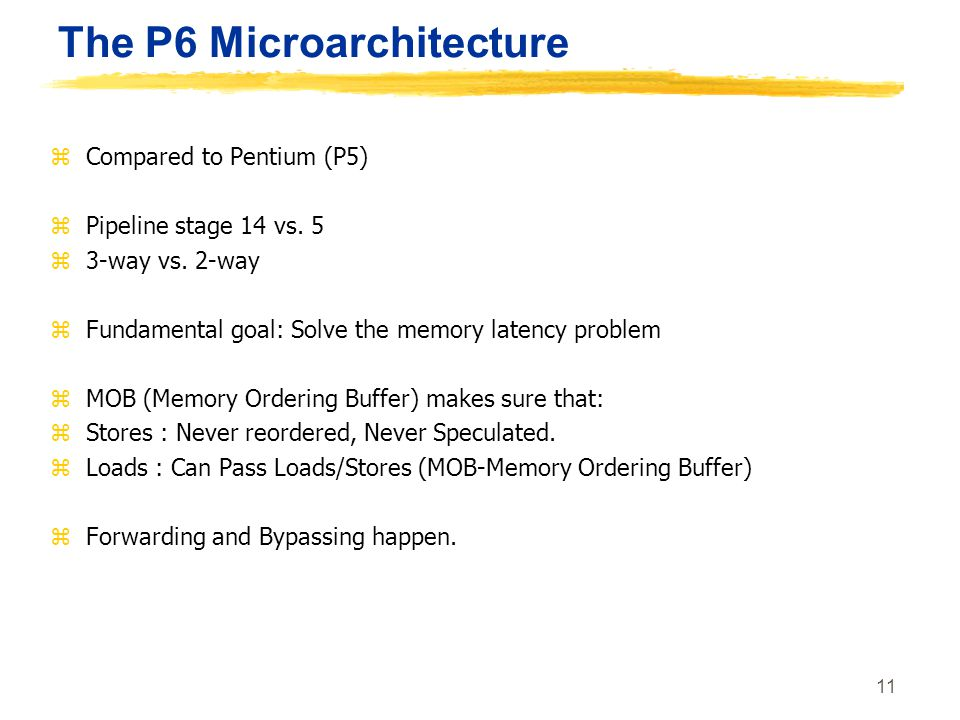 The P6 Microarchitecture