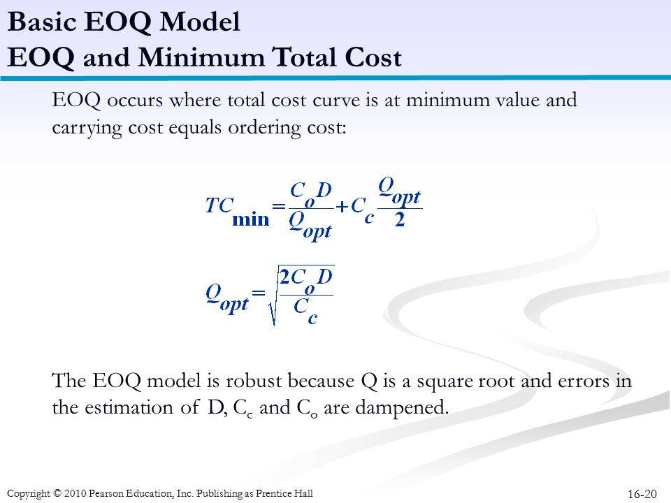 EOQ and Minimum Total Cost