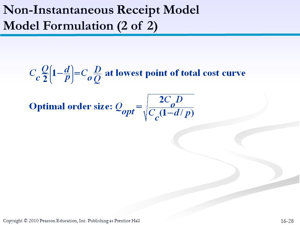 Inventory Management Chapter ppt video online download – Receipt Model