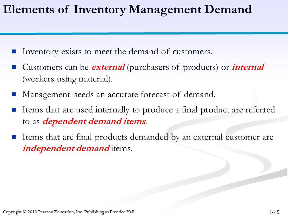 Elements of Inventory Management Demand