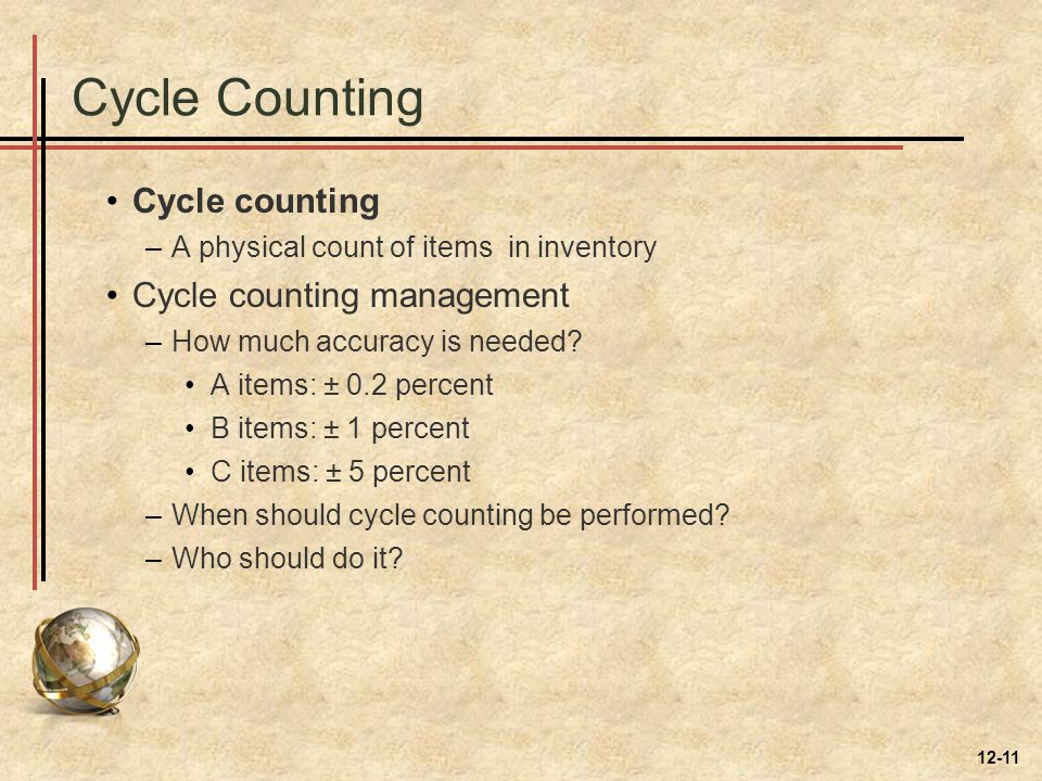 Cycle Counting Cycle counting Cycle counting management
