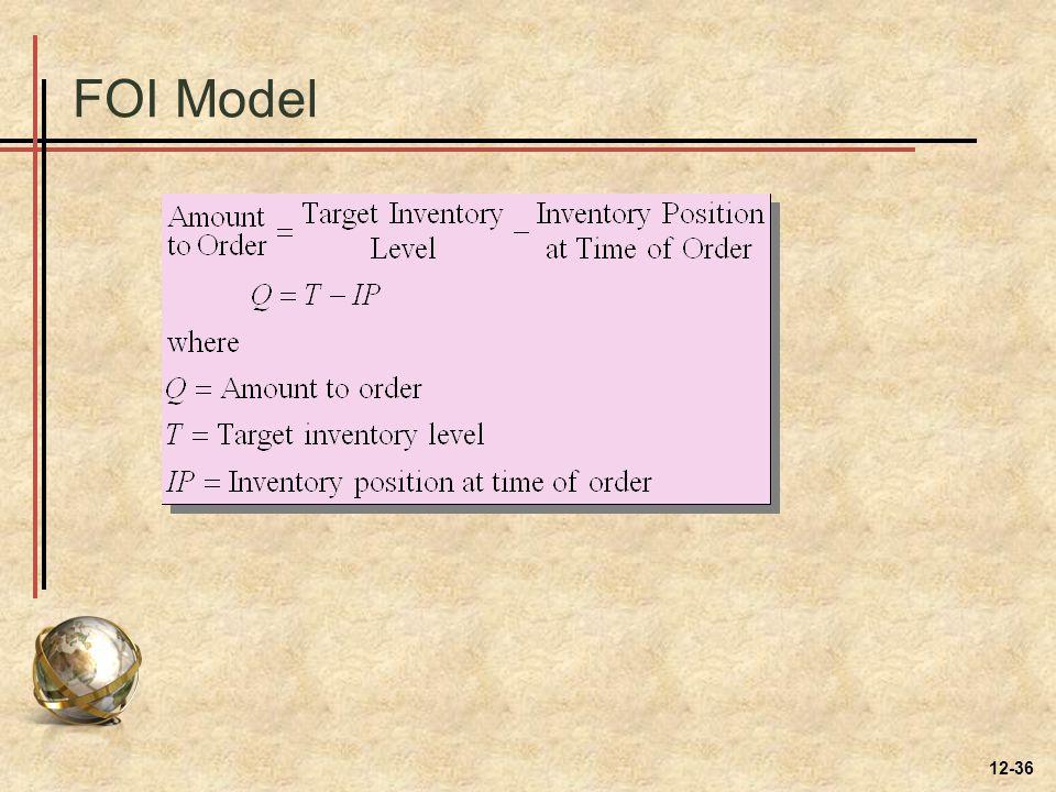 FOI Model 12-36