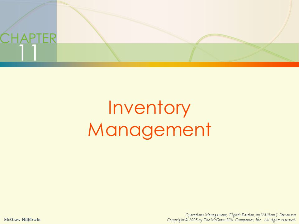 11 Inventory Management CHAPTER