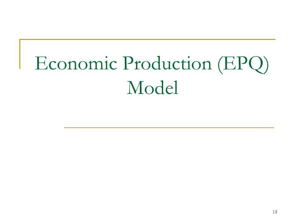 Economic Production (EPQ) Model