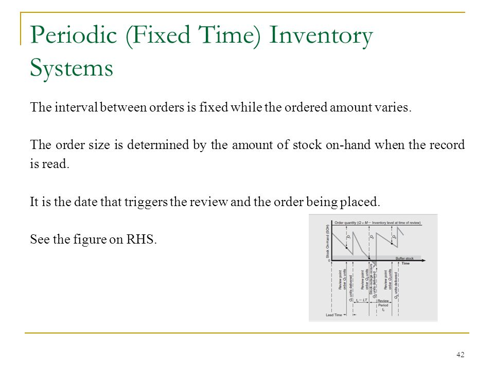 Periodic (Fixed Time) Inventory Systems
